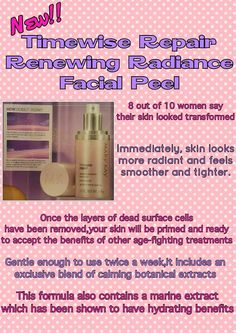 Timewise Repair Renewing Radiance Facial Peel contact me call/text 732 644 0020 website marykay.com/cgriffin5036 facebook Carita Griffin