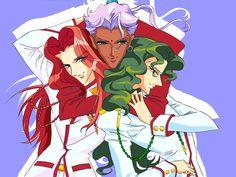 Revolutionary Girl Utena ~ Saionji, Touga, and Akio Real Anime, I Love Anime, Anime Guys, Manga Anime, Revolutionary Girl Utena, Anime Stars, Familia Anime, Manga Artist, Anime Artwork