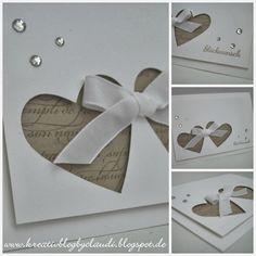 Kreativ Blog by Claudi: Zur Hochzeit (Diy Wedding Card)