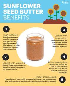 Sunflower seed butter benefits - Dr. Axe http://www.draxe.com #health #holistic #natural