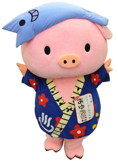 All things in Japan are cute like the Mascots Kumamon and Domokun. SO who's your favourite Mascot of all time? Happy Tree Friends, Cute Friends, This Little Piggy, Little Pigs, Mascot Design, Mascot Costumes, Kawaii Cute, Cute Characters, Funny Cute