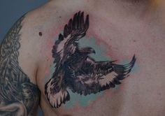 What a cliche eagle tattoo on chest but this one is not one of them.Respect _o_
