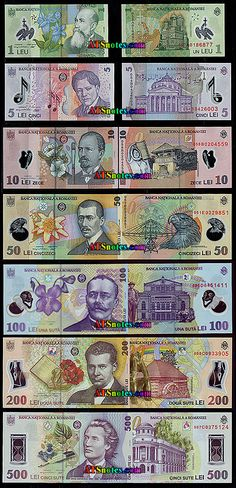 Romania banknotes - Romania paper money catalog and Romanian currency history Romania, Catalog, Money, Paper, Cards, Tourism, Pictures, Maps, Playing Cards