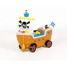 Little Tikes 2-in-1 Pirate Ship - Tricycles, Scooters & Wagons #Kid #Kids #Toy #Toys #Christmas #Holiday #Holidays #Wish #Wishlist #Child #Children #Tricycles #Scooters #Wagons #Rides #Gift #Gifts #Present #Presents #Idea #Ideas $37.98