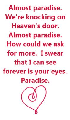 Ann Wilson & Mike Reno - Almost Paradise - song lyrics, song quotes, songs, music lyrics, music quotes,