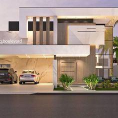 Unbelievable Modern Architecture Designs – My Life Spot Modern Architecture House, Residential Architecture, Architecture Design, Bungalow House Design, Modern House Design, House Elevation, Villa Design, Facade House, Exterior Design