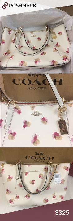 New COACH Field Floral Ava Tote Shoulder Bag This is an elegant tote by Coach Field Floral Ava Tote. Retail Store Price $375.00 See photos. Brand NEW with Tags! Thank you for shopping in our closet. Coach Bags Totes