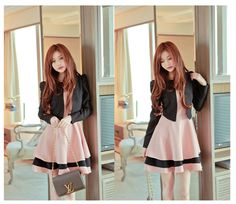 dress, k-fashion, korea-fashion