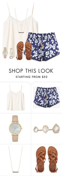 """Untitled #345"" by prettyunique10 ❤ liked on Polyvore featuring Monki, Paloma Blue, Kate Spade, Kendra Scott, Adina Reyter and Billabong"