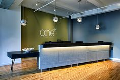 The front desk at #OneMedical Group's new Flatiron office in New York.