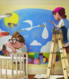 Carl and Ellie's baby nursery on up!
