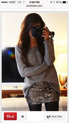 This is both Comfy And Fab !! I may need a skirt like this For the Holiday Season !!