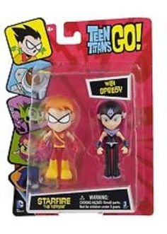 Teen Titans Go Starfire The Terrible with Speedy 2.75 inch Action Figures Age 4+
