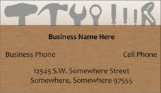 free business card templates for a handyman