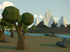 Low Poly Mountains
