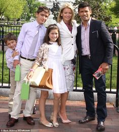 Kelly's family: The blonde in 2011 with husband Mark, and their three kids (from left) Joaquin, Michael Jr. and Lola