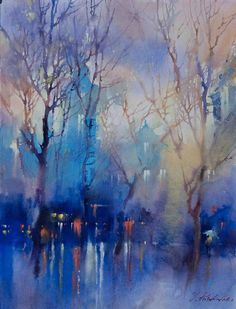 Kai Fine Art is an art website, shows painting and illustration works all over the world. Watercolor Trees, Watercolor Artists, Watercolor Landscape, Landscape Art, Landscape Paintings, Scenery Paintings, Landscapes, Landscape Posters, Watercolour Paintings