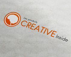 Design graphique de logo cerveau Les Produits Creative Inside