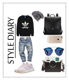 """Untitled #834"" by giselaturca on Polyvore featuring adidas Originals, NIKE, Incase, Spacecraft and Christian Dior"