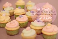 Delicious Cupcake Recipe!  boxed cake that tastes homemade + the yummiest buttercream frosting