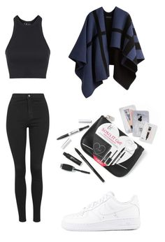 """""""4.2.16"""" by sxrxxrxs ❤ liked on Polyvore featuring Topshop, NIKE and Burberry"""