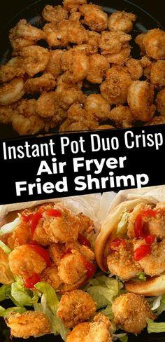 These Instant Pot Duo Crisp Air Fryer Fried Shrimp were so easy to make! | Instant Pot Duo Crisp | Instant Pot Duo Crisp Shrimp | Instant Pot Duo Crisp Recipes Shrimp |  Instant Pot Duo Crisp and Air Fryer | Instant Pot Duo Crisp and Air Fryer Recipes | Healthy Instant Pot Duo Crisp Recipes | Easy Instant Pot Duo Crisp Recipes | Best Instant Pot Duo Crisp Recipes | Instant Pot Shrimp | Air Fryer Shrimp | Duo Crisp Recipes | #instantpotduocrisp #duocrisp Shrimp Recipes, Pork Recipes, Healthy Recipes, Copycat Recipes, Dinner Recipes Easy Quick, Quick Easy Meals, Easy Recipes, Fried Shrimp, Crisp Recipe
