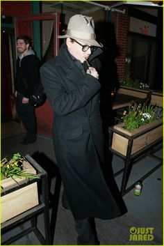 Johnny Depp and his fiancee Amber Heard make their way out of Il Buco restaurant in New York