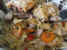 Hellena ...din bucataria mea...: Carne de capra cu varza murata Potato Salad, Potatoes, Chicken, Meat, Ethnic Recipes, Food, Potato, Essen, Yemek