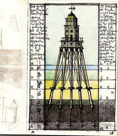 Architectural sketches: Aldo Rossi