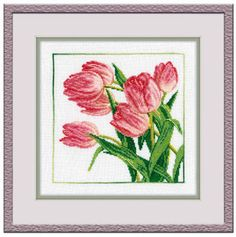 """A BRAND NEW COUNTED CROSS STITCH KIT """"TULIPS """" CREATE FOR FUN  RTO #RTO #Kit"""