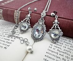 Swarovski Crystal Wedding Jewelry Set