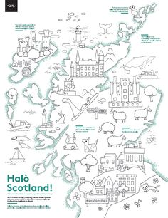 Map of Scotland colouring page | Scotland