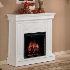 clean plain classic fireplace