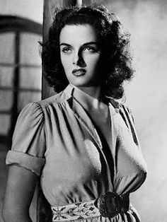 Jane Russell in a very NOT boxy blouse... love the gathers!