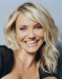 Cameron Diaz- hair for square face shape.