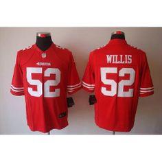 Nike NFL San Francisco 49ers Team Jersey #52 Patrick Willis Size Large STITCHED