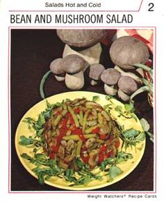 Creepy looking Weight Watchers Recipe Cards from the 70's