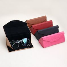 Provided 6 Colors Available Spectacle Cases 1 Pc Protable Light Triangular Fold Glasses Case Eyeglass Sunglasses Protector Hard Box Modern And Elegant In Fashion Apparel Accessories Men's Glasses