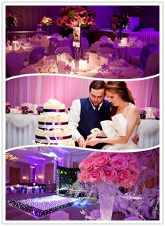 Royal Garden Hotel Purple Wedding in UK -- different colors probably