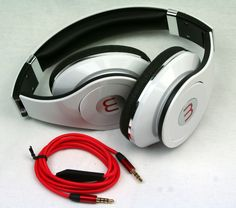 Klapbar Stereo Kopfhörer Headset Universal Headphones 3,5mm mit Mikrofon weiss
