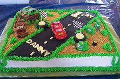 For nathans bday party? Disney Cars First Birthday By decadentcakes on CakeCentral.com