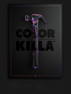 Binaposter 08 - Color Killa on Behance Graphisches Design, Graph Design, Layout Design, Creative Design, Logo Design, Graphic Design Posters, Graphic Design Typography, Graphic Design Illustration, Graphic Design Inspiration