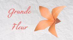 Origami ! Une Grande fleur - Big flower in paper [ HD ] - YouTube