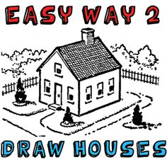 how to draw a house in perspective step by step