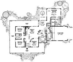 First Floor Plan of Country   House Plan 95075