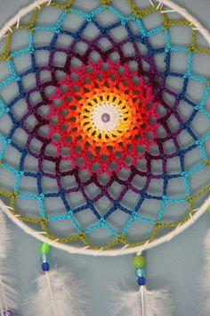 Correio – teresa pereira – Outlook Crochet Mandala Pattern, Crochet Circles, Crochet Doilies, Crochet Patterns, Dream Catcher Patterns, Dream Catcher Craft, Dream Catcher Boho, Crochet Feather, Crochet Dreamcatcher