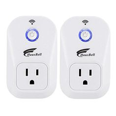 Smart Plug, 2 packs HAUSBELL Wi-Fi Plug, Control your Devices from Anywhere, No Hub Required, Works with Amazon Alexa, UL Listed (SM-PW701U) - Your Life Can Be A Lot Easier With the Smart Plug Why come home to a dark house? Why let the fan run if nobody's home? Set on and off times for your lights and small appliances. Sync lights to sunrise, sunset, and other external events automatically. Turn on a light or coffee maker before you get...