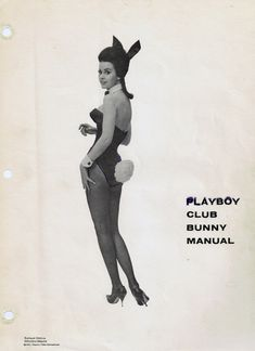 Vintage Playboy Club Bunny Manual Cover from Baltimore ~ crazy funny pictures