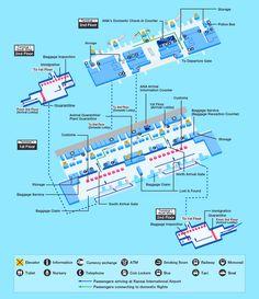 Airport Map of Minneapolis St. Paul International Airport