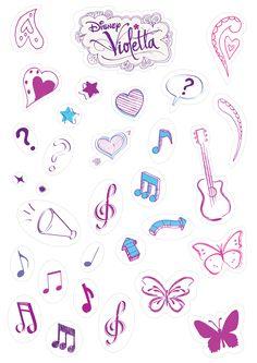 stickers para imprimir de cumpleaños - Buscar con Google Violetta Disney, Project Life Cards, Kids Prints, Printable Stickers, Henna, Doodles, Printables, Scrapbook, Drawings